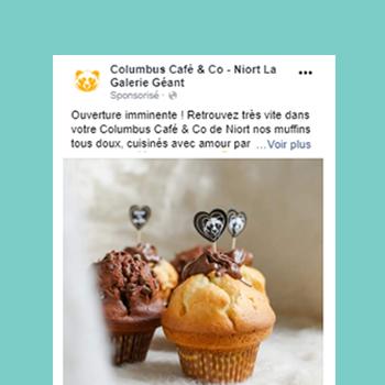 Columbus café Niort facebook ads
