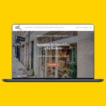 AD immobilier site web